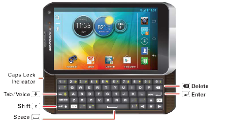 How do I use the PHOTON Q 4G LTE keyboard to enter text?