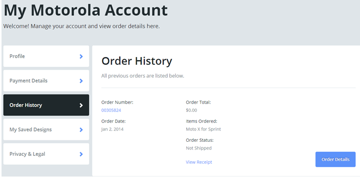 When will I receive my order? - MOTO X 1ST GENERATION